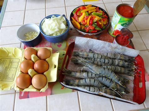 cuisiner gambas surgel馥s 199 a d 233 m 233 nage en cuisine cocotte de piperade aux gambas