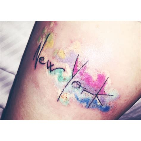 watercolor tattoo upstate ny new york watercolor wanderlust