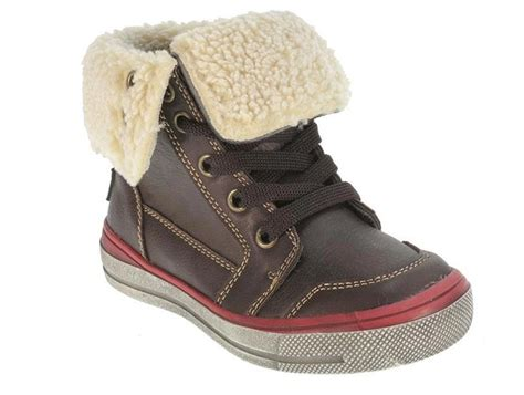 infant boys high top trainers ankle boots faux fur