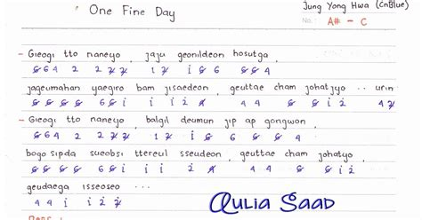 ini lho judul lagu soundtrack one fine day bookmyshow not angka jung yong hwa cnblue one fine day not