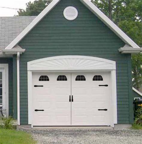Garage Door Decals Carriage House Style Vinyl Garage Door Decal Kit Faux Windows