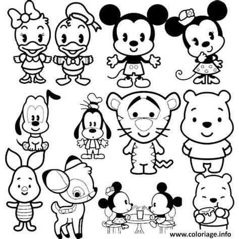 coloriage disney cuties tsum tsum dessin  imprimer