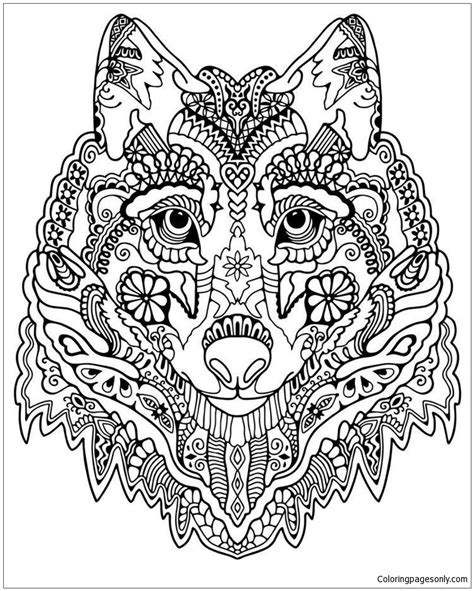 cute mandala coloring pages cute wolf adult mandala coloring page free coloring
