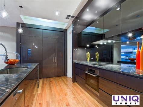 modern galley kitchen ideas modern galley kitchen design using floorboards kitchen