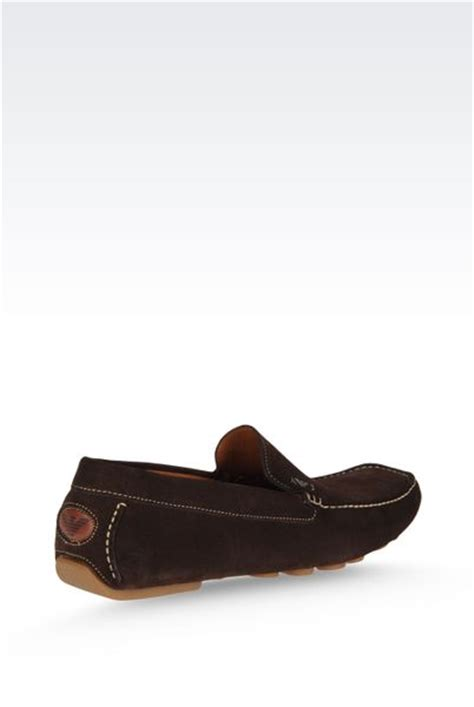 Shoe Loafer Fashion Armani B15 armani loafer in brown for brown lyst