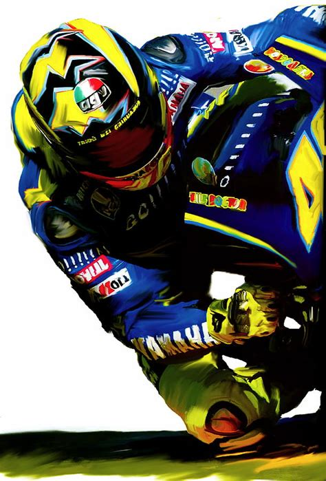 Poster Pop Kayu Valentino Vr46 valentino corner speed iii painting by iconic images