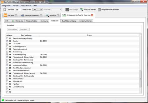 carport diagnose anleitung vw touran 1t3 bj 2011 anh 228 ngerkupplung codieren diagnose