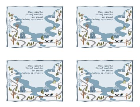 download holiday party invitation postcard works with