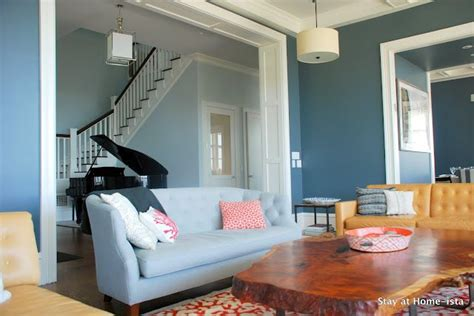 Blue And Coral Living Room by Blue And Coral Living Room Living
