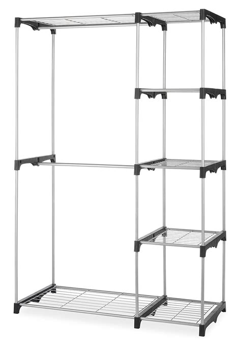 shelves for clothes whitmor double rod closet system organizer wardrobe