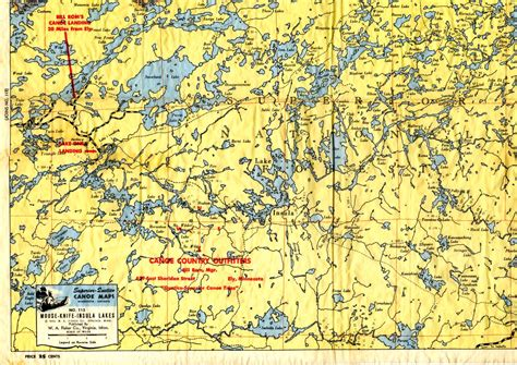 boundary waters map bwca maps quotes