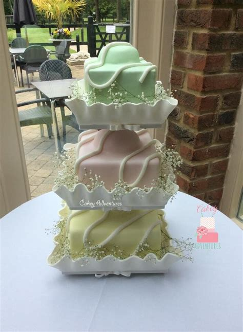 fancy wedding cakes fancy wedding cake with edible cases