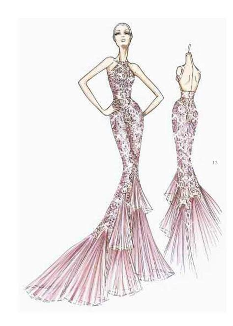 fashion illustration versace edith saylor style exclusive sketches from the versace atelier