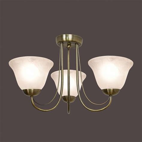 alabaster 3 arm glass light fitting dunelm home style