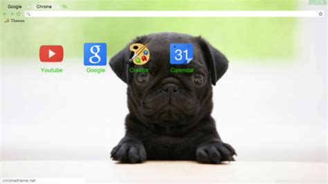 pug theme for google chrome 34 puppy chrome themes desktop wallpapers more for dog