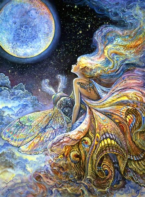 acrylic painting mystical moons planet josephine wall fly me to the moon