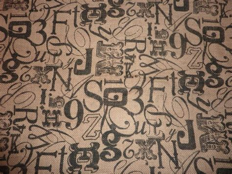 patterned hessian fabric printed burlap hessian fabric numbers and letters pattern