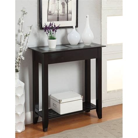 hallway accent table hallway glass end living room table top accent modern