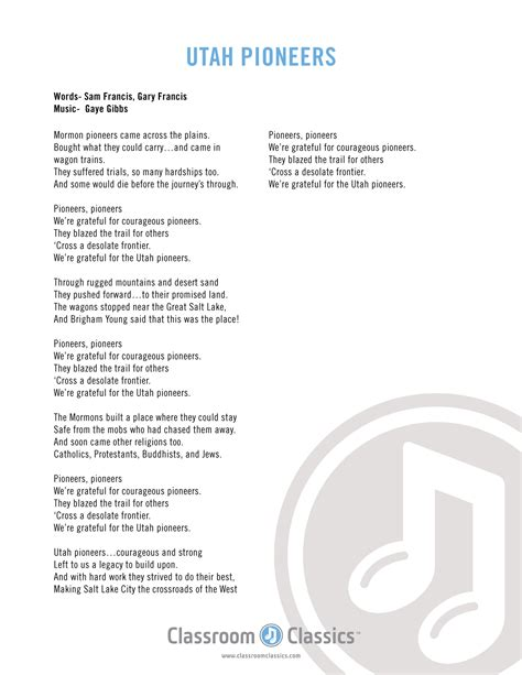 A Place Song Lyrics Utah This Is The Place State Song Cd Vocal And Accompaniment