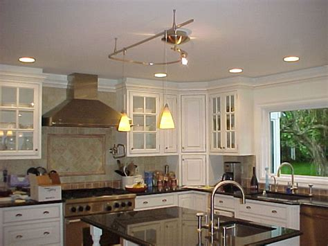 technology track lighting fixtures modern kitchens