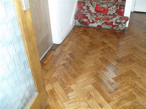 oak parquet floor sanded and sealed with satin seal