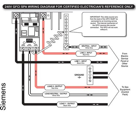 2 pole gfci breaker wiring diagram wiring diagram with