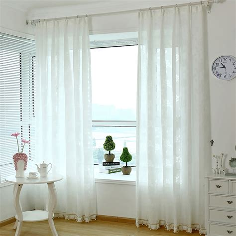 Semi Sheer Curtains Beautiful Polyester Floral Semi Sheer Curtains