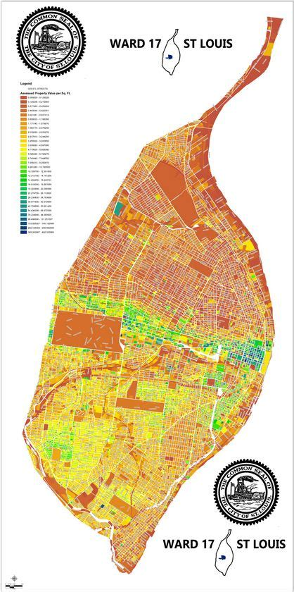 assessed property value map city of st louis team tif