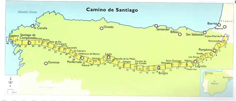 camino de santiago maps daily map of the camino de santiago camino de santiago