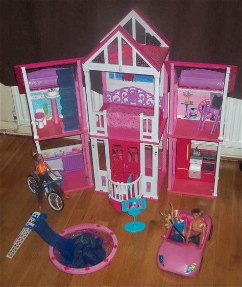 barbie dream house car barbie malibu dream house with pool slides 3 barbies car 2 horses stable bundle in