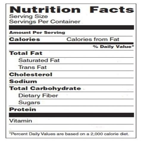 stunning blank nutrition facts template ideas resume ideas