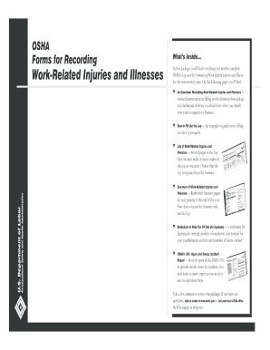 osha forms for recording work related injuries and