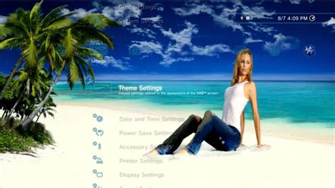 ps3 themes dynamic girl sorority island girls dynamic ps3 theme youtube
