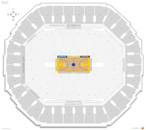 oracle arena warriors seating chart golden state warriors seating guide oracle arena