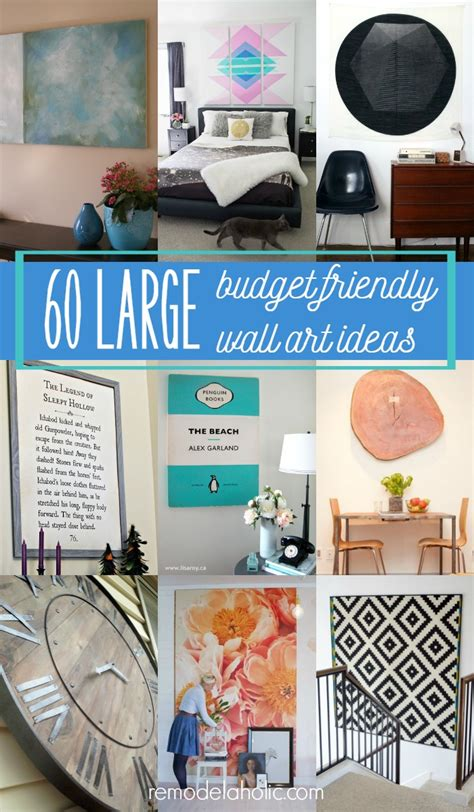 big wall decor ideas 60 budget friendly diy large wall decor ideas