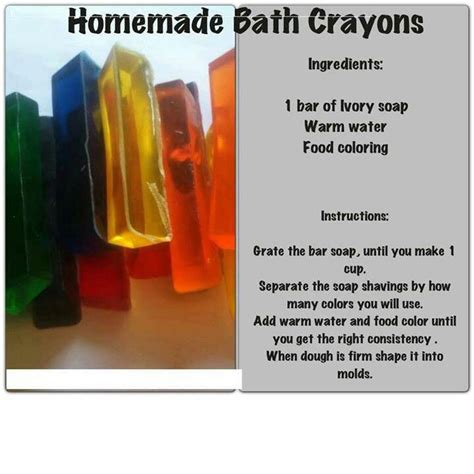 bathtub crayons homemade bath crayons cool diy projects pinterest