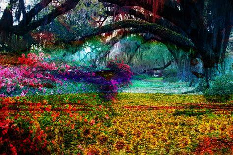 Artistic Gardens by Willow Garden Flowers Impressionism Digital