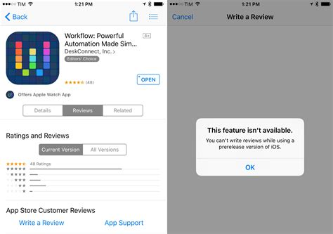 App Review Apple Prevents App Store Reviews From Users On Ios 9 Betas