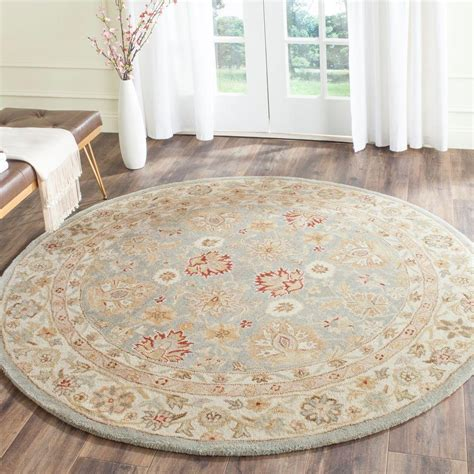 safavieh grey rug safavieh antiquity grey blue beige 10 ft x 10 ft area rug at822a 10r the home depot