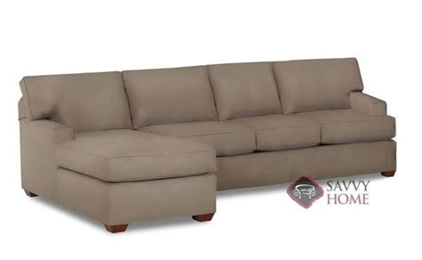leather sleeper sectional with chaise palo alto leather chaise sectional by savvy is fully