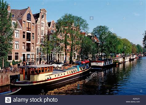 houseboats holland houseboats the netherlands holland amsterdam stock photo