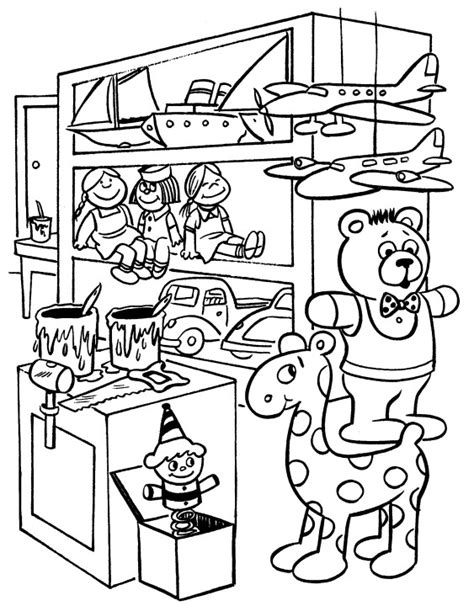 coloring pages of santa s workshop printable christmas coloring page elves workshop