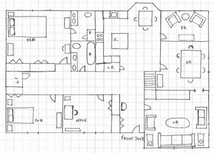 floor plan grid template process dream house
