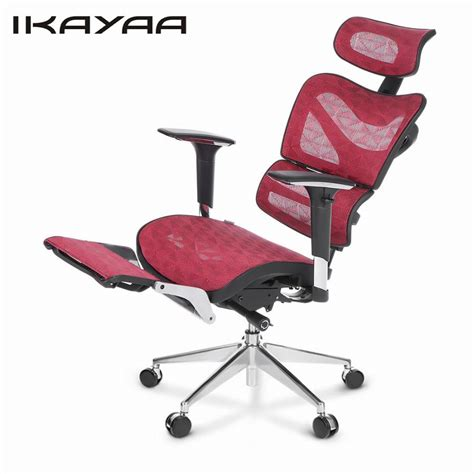 office chair with headrest and footrest ikayaa us stock mesh office chair swivel tilt executive