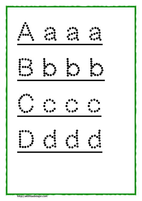Latihan Menulis Angka belajar menulis huruf kecil dan besar buat anak