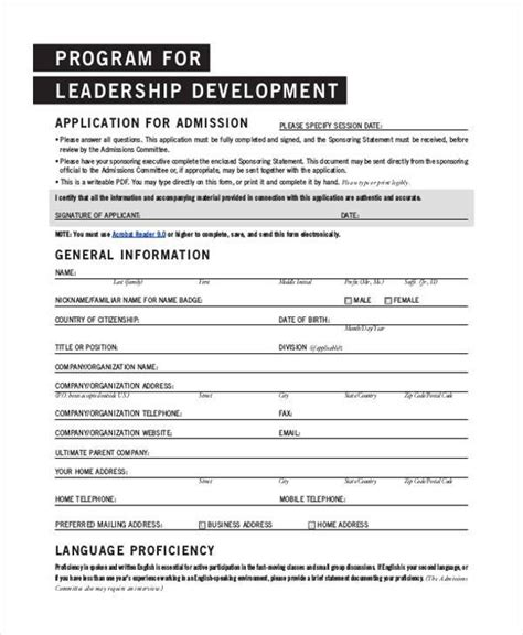 Pdf Developing The Leader Within You Chapter 6 by Sle Leadership Application Forms 8 Free Documents In
