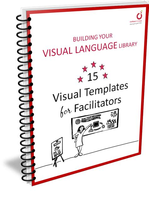 visual facilitation templates book hold in the printed on real paper copy