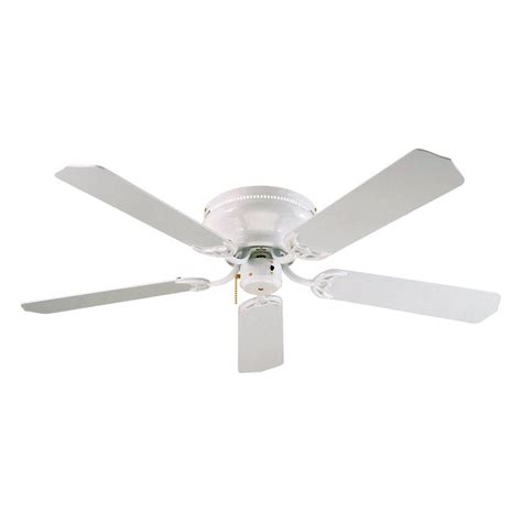 Lowes White Ceiling Fans by Shop Royal Pacific Royal 52 In White Flush Mount