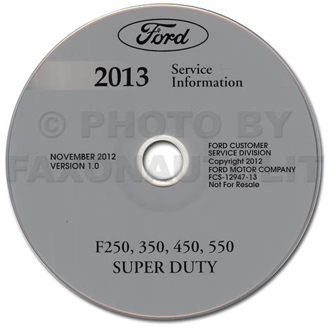 ford     super duty truck repair shop manual  cd rom original