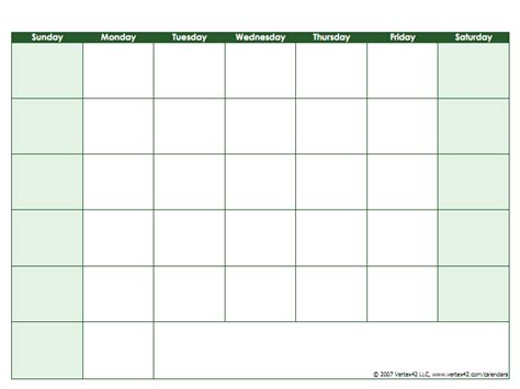 Calendar Calculator Days Of The Week Blank Calendar Template Free Printable Blank Calendars